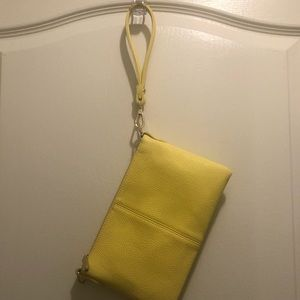 Yellow wristlet